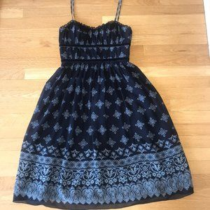 max and cleo Navy 100% Silk Dress Size 4